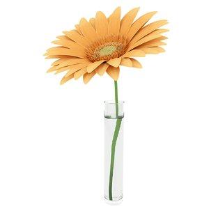 3ds gerbera flower
