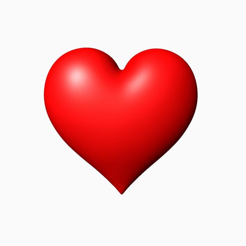 heart valentine 3d max
