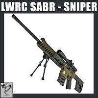 lwrc sabr sniper rifle 3d max