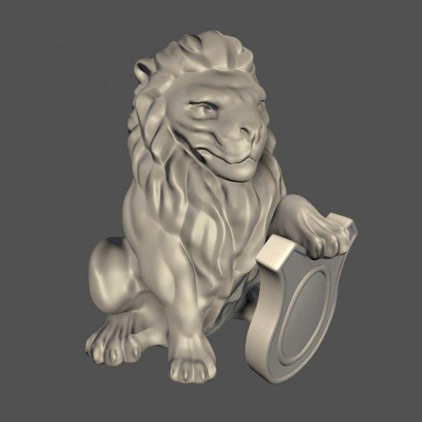 3ds max lion statue