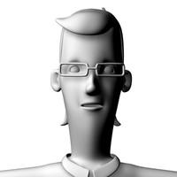 character glasses 3d c4d