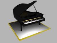3d piano model