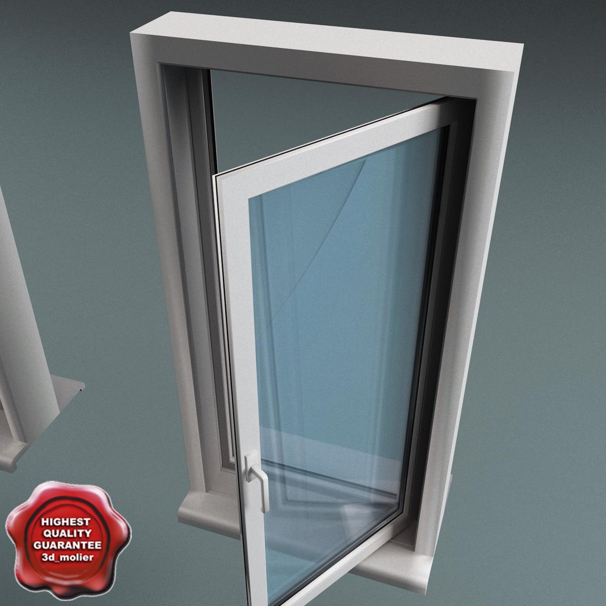 plastic window v4 3d max