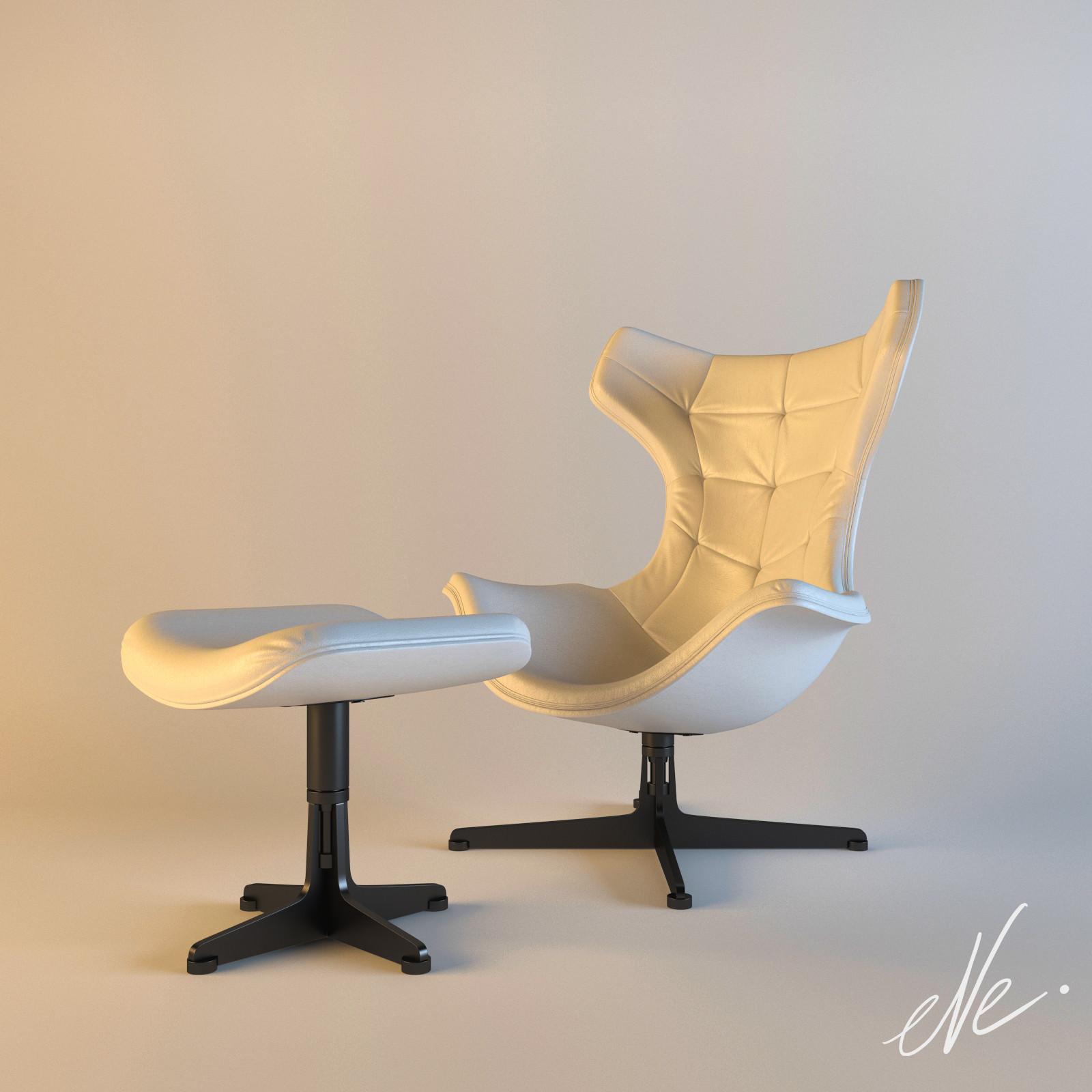 Poltrona frau regina ii 3d model for Poltrona 3d