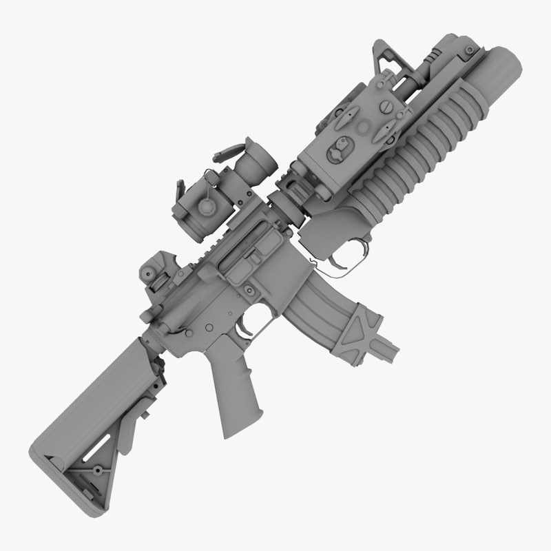 3d mk18 m203 model