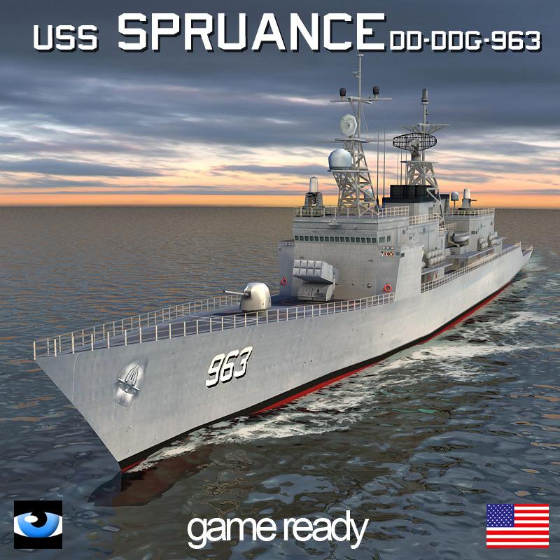 3d uss spruance dd ddg-963