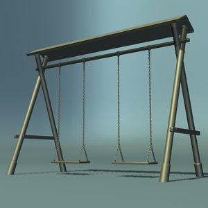 playground swing 3d max