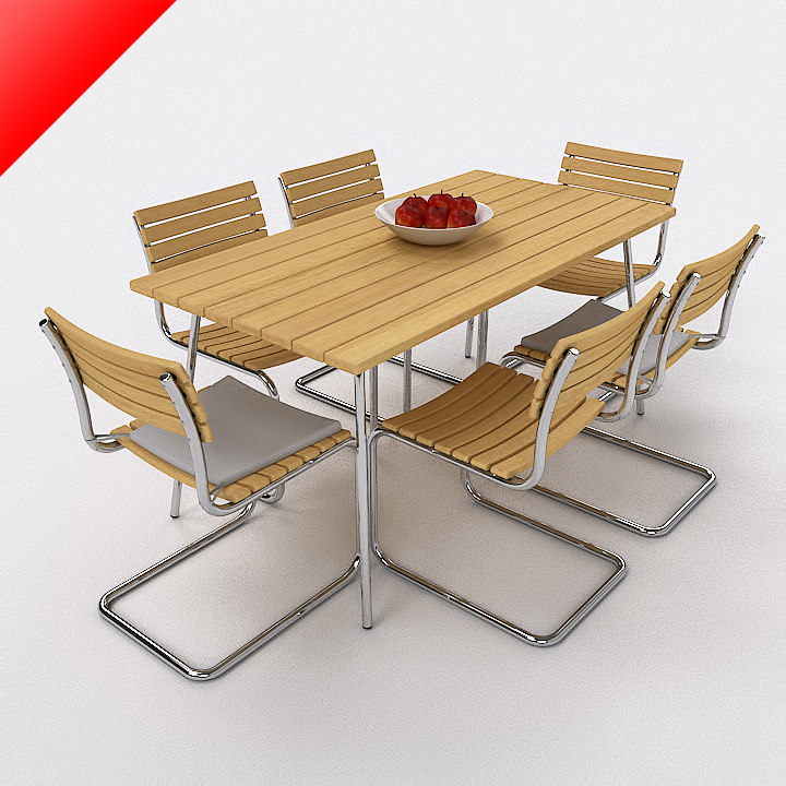 3d thonet outdoor set model