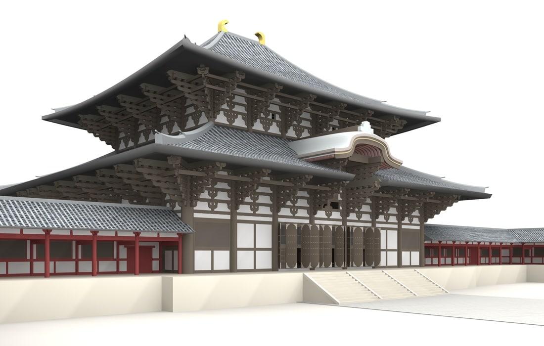 3d model of todaiji temple nara japan