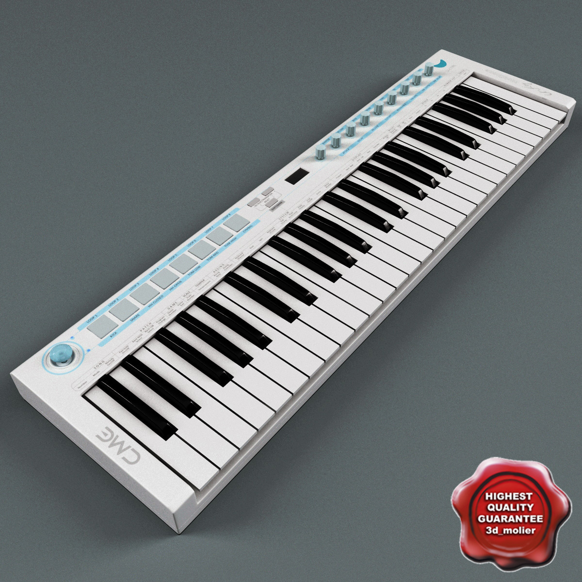 usb midi keyboard u-key 3d model
