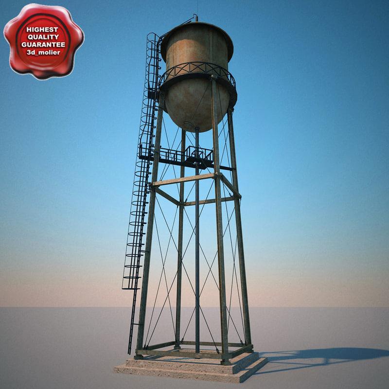 3ds max water tower v2