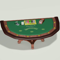 blackjack table 3d max