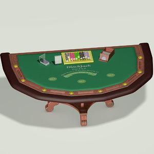 blackjack table 3d max