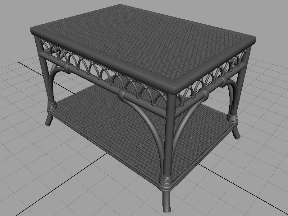 3d model bamboo table