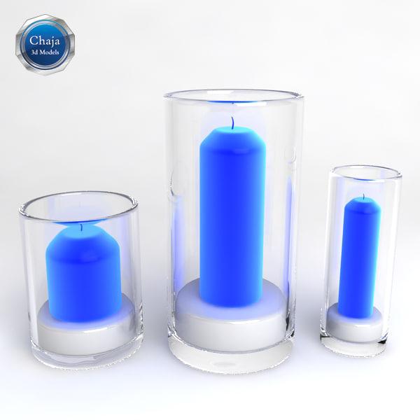 candle candlestick candleholder 3d model