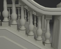 stairs old 3d obj