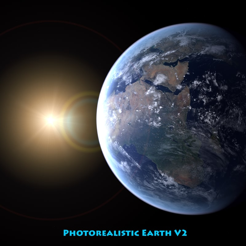 3d model photorealistic planet earth