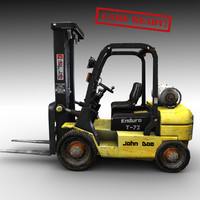 video forklift 3d obj