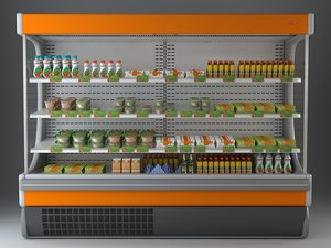 refrigerated display case x