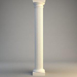 stone column 3d model