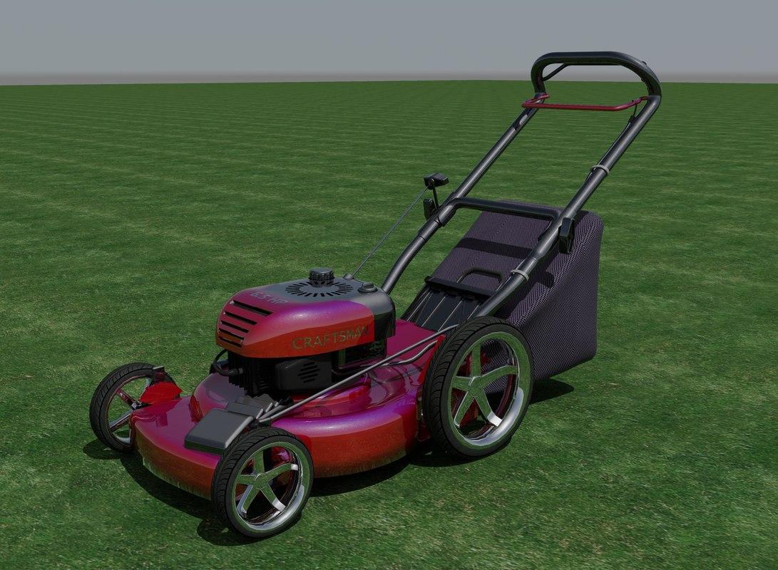 lawn mower 3d max