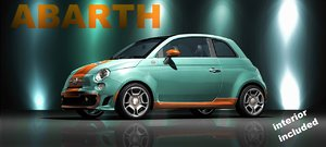 new abarth 500 3d obj