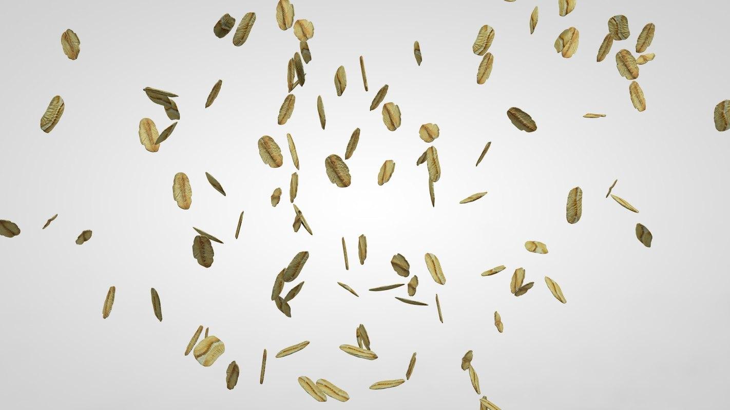 oat flakes c4d