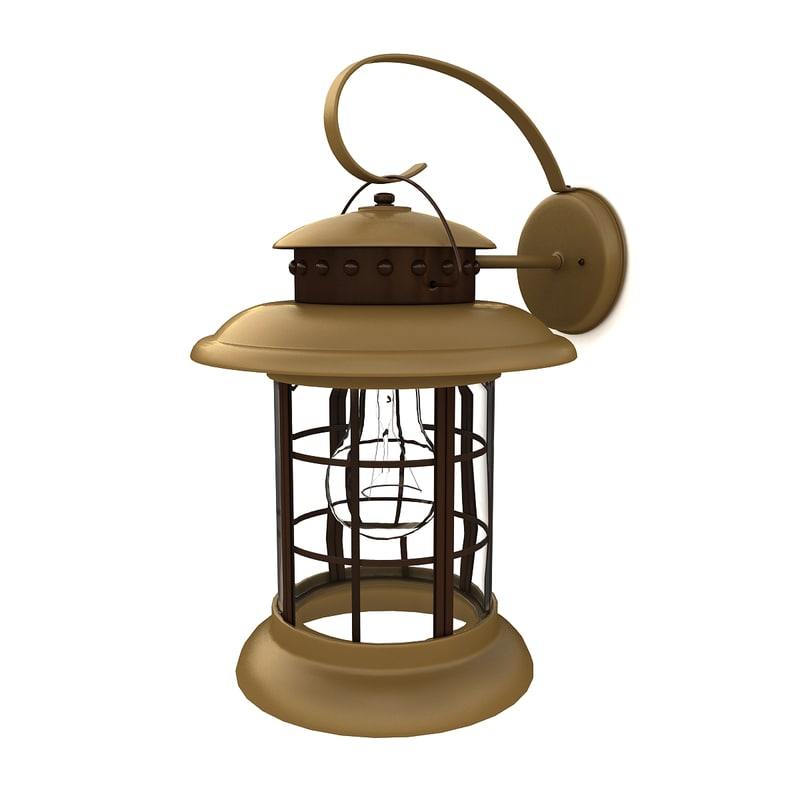 3ds outdoor wall lantern 06