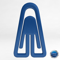 paper paperclip 3d dxf