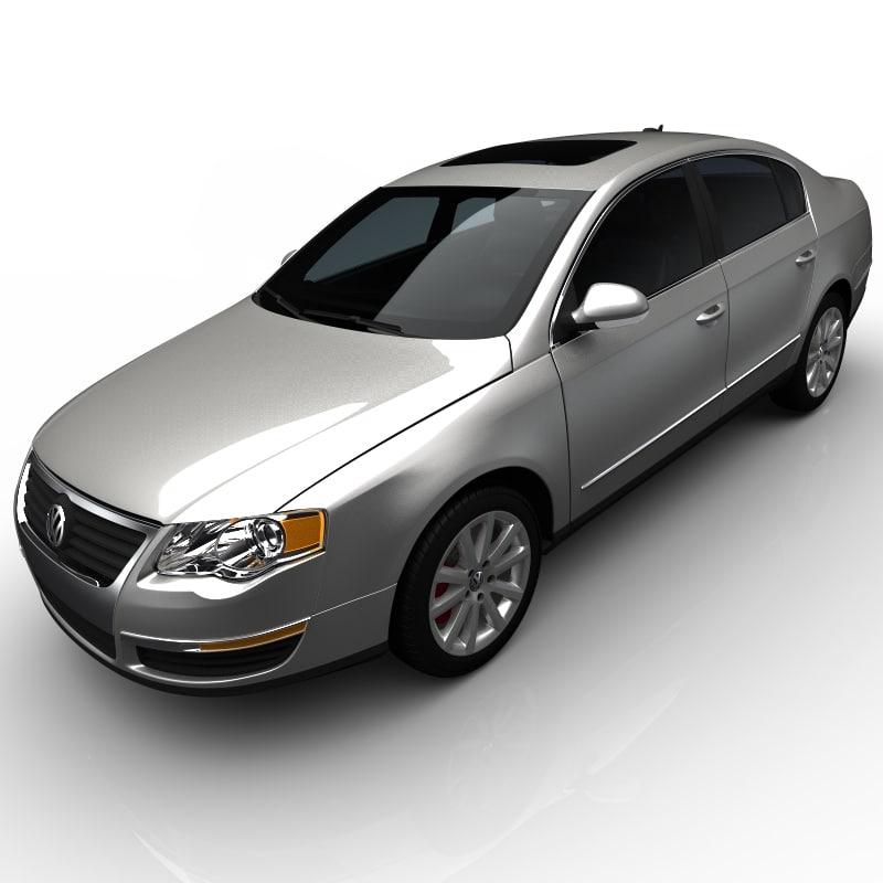 3d model volkswagen passat sedan