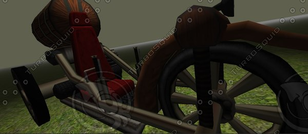 3d model steampunk vehicle