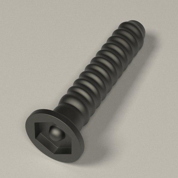 3ds max screw