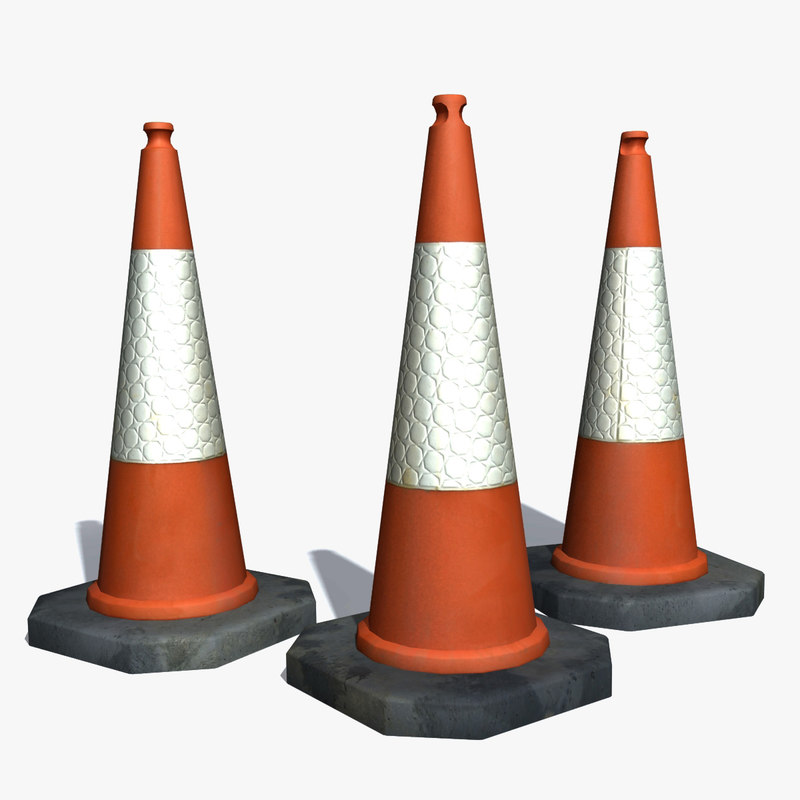 3d model plastic traffic cone