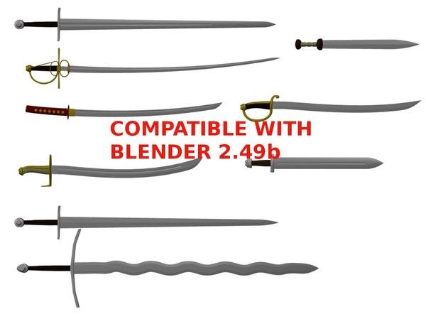 special sword 3d blend