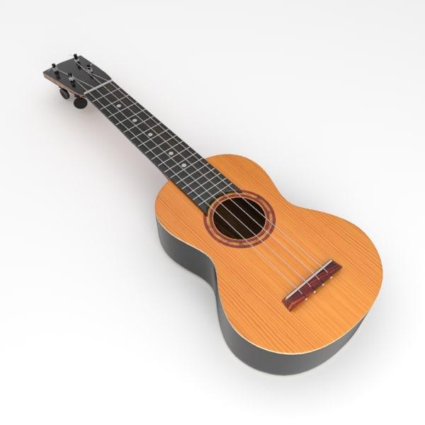 ukulele guitar string 3d model