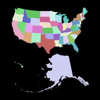 usa states mapping 3d max
