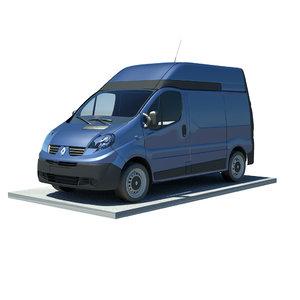 3d renault trafic l1h2 model