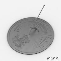 3d model sundial