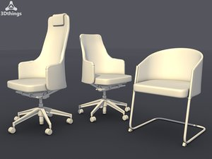 3d model conference chair set12 -