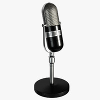 3d retro microphone model