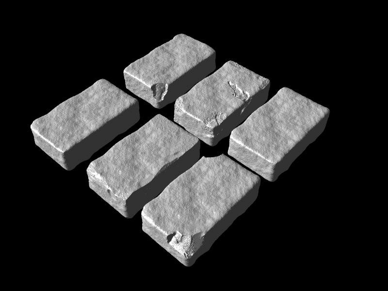 3d model brick set
