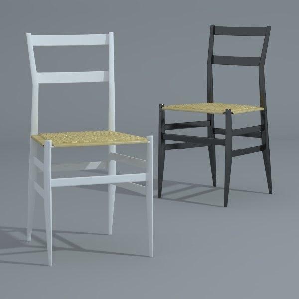 3d gio 699 superleggera dining chair