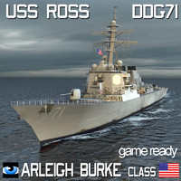 Arleigh Burke Class USS ROSS DDG-71 Destroyer with SH-60