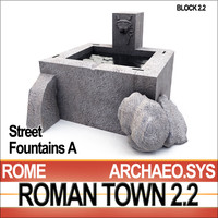3d 3ds ancient roman town street