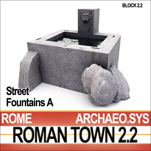 3d 3ds ancient roman town street