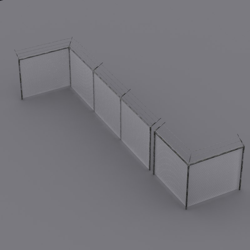 3dsmax barbed wire fencing