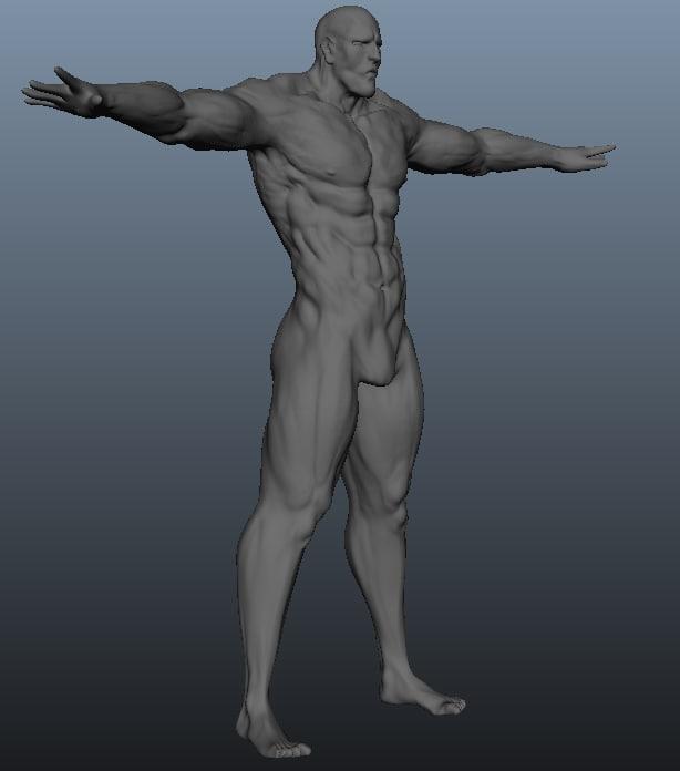 3d buff guy model