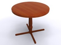bistro table 3d max