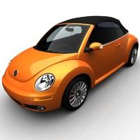3d volkswagen beetle convertible r-line