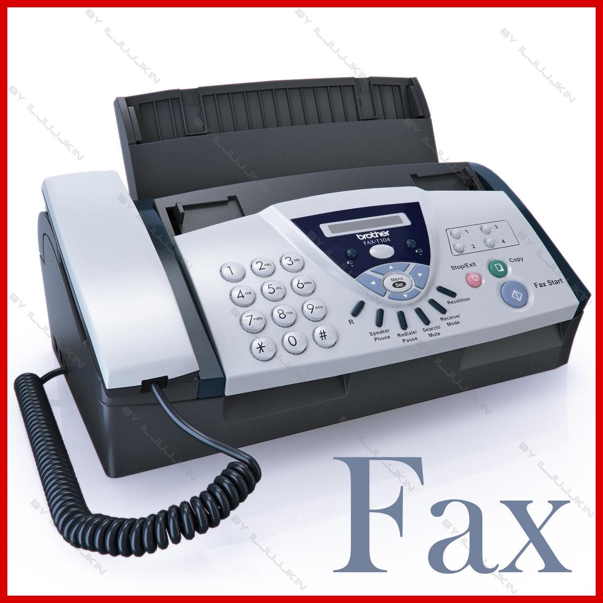 fax 3d models and textures turbosquid com